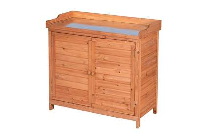 solid fir potting bench