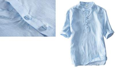 utcoco mens vintage round collar chinese style henley shirt