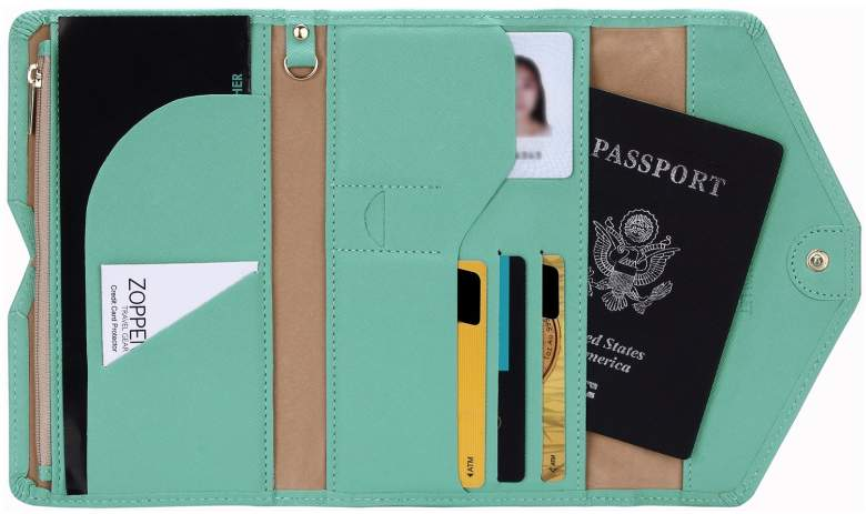 womens passport travel wallet