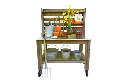 zinc top potting bench