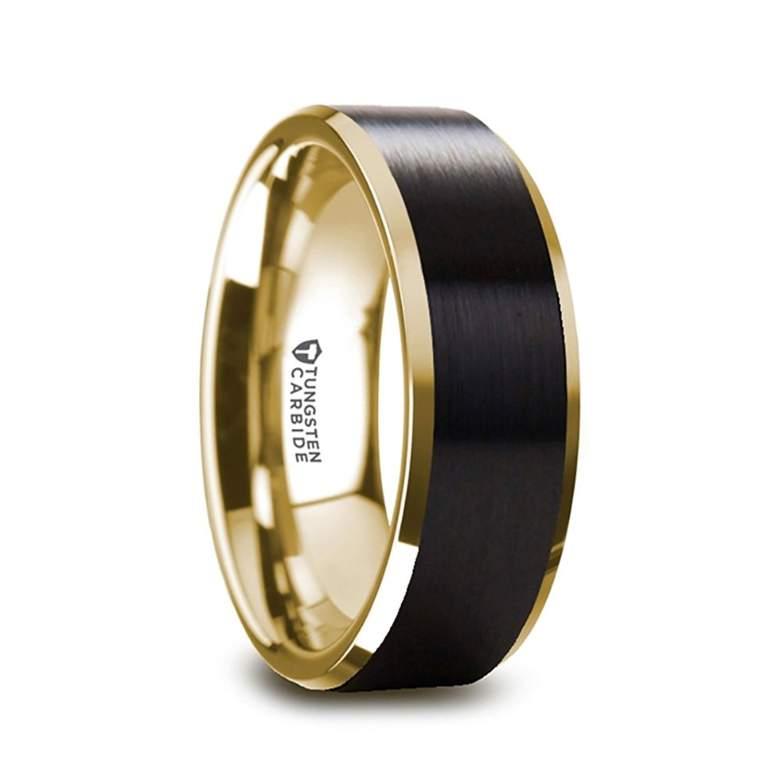 black wedding band