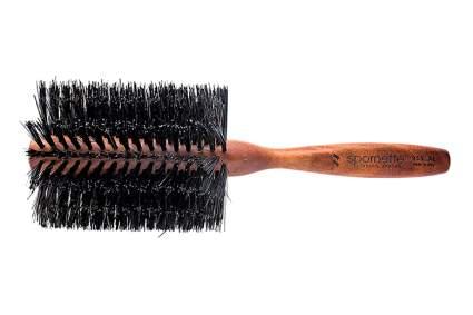 double density boar bristle round brush