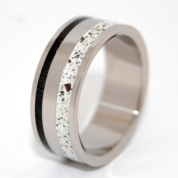 concrete wedding band
