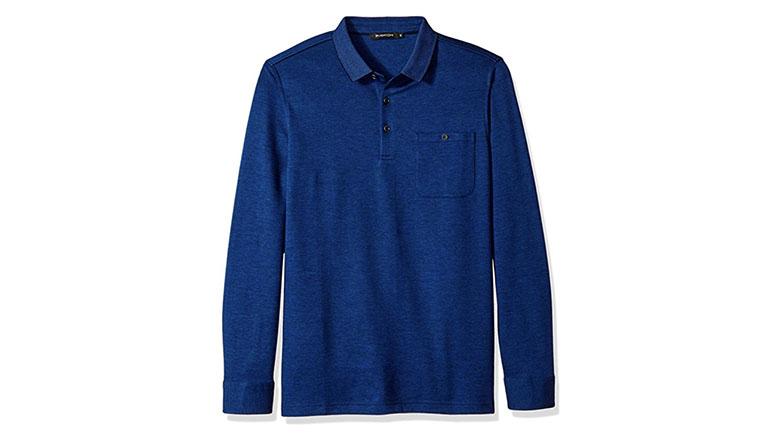 bugatchi mens long sleeve classic fit long sleeve polo shirt