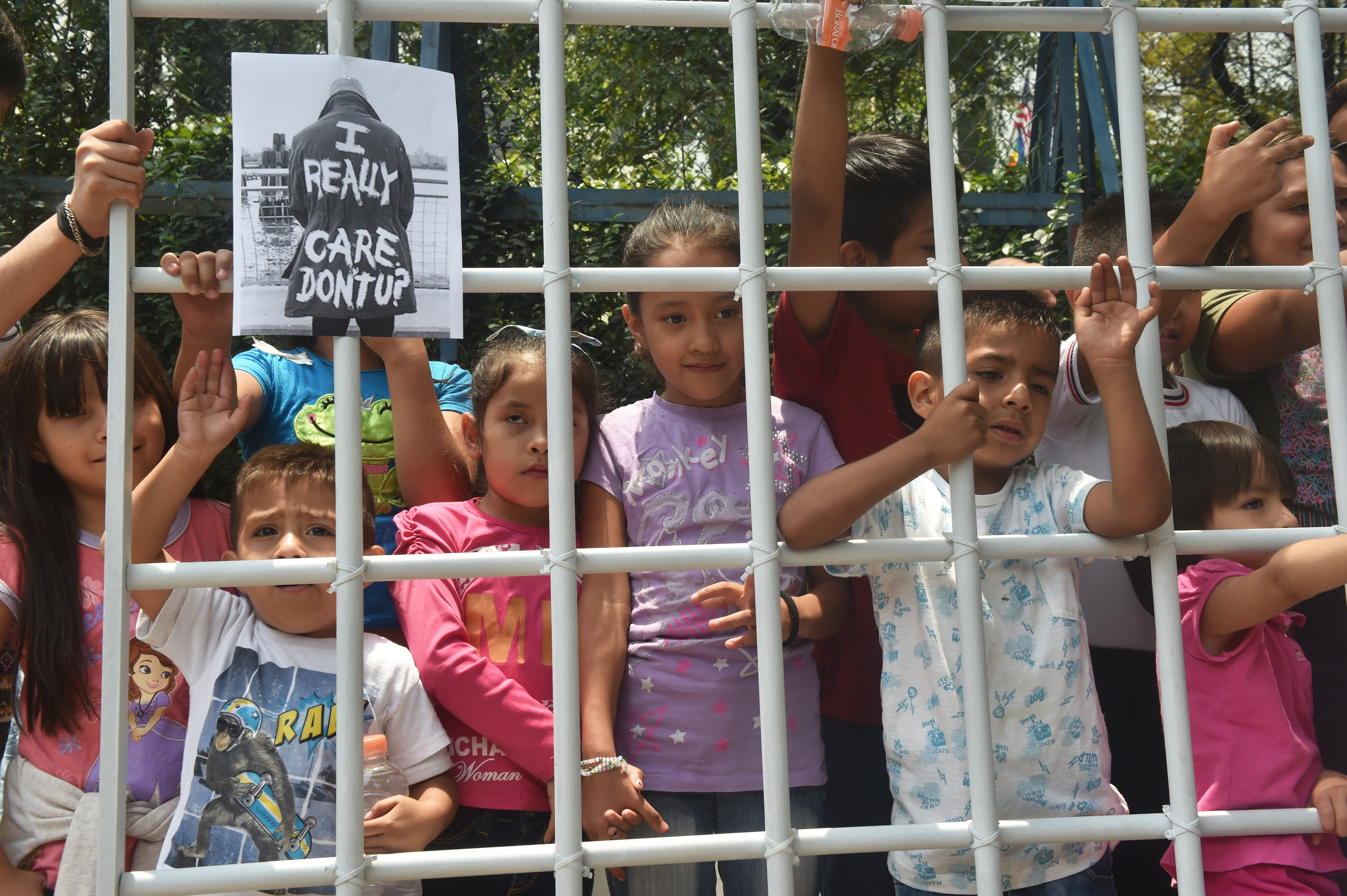 Children being held at the US-Mexico border