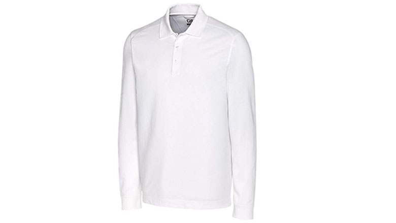 cutter and buck mens long sleeve advantage polo shirt