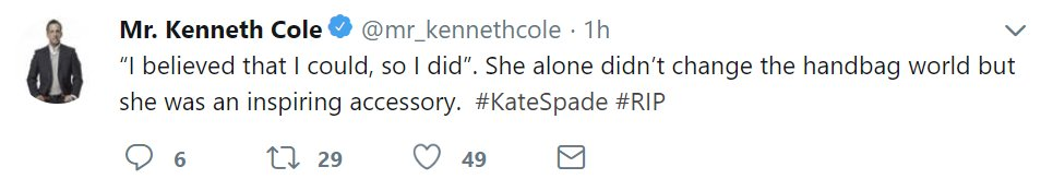 Kenneth Cole Twitter