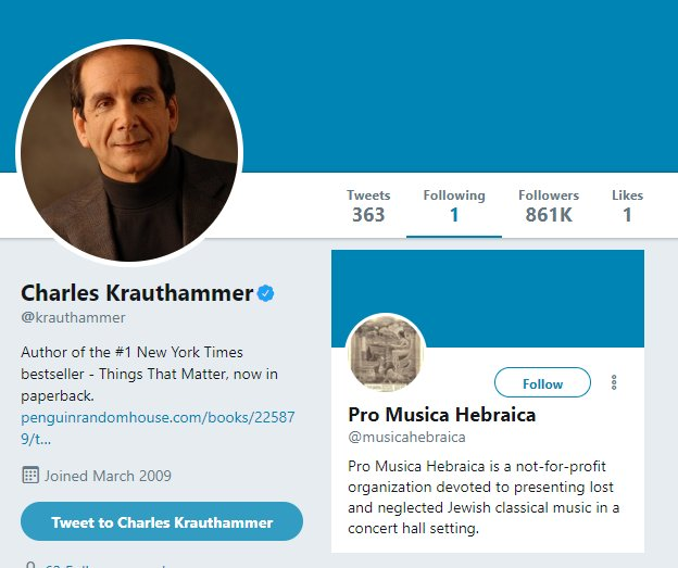 Charles Krauthammer Twitter page