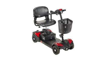Black and red drive medical 4 wheel mobility scooter