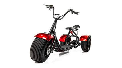 red eWheels fat tire chopper trike mobility scooter