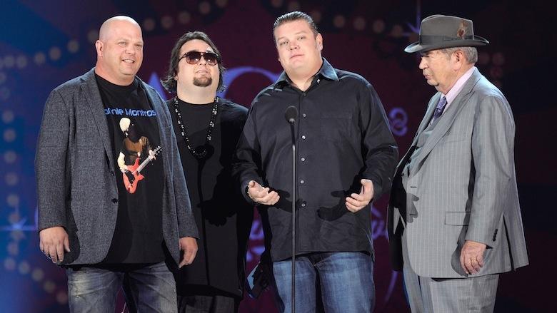 Rick Harrison, Chumlee, Corey Harrison, and Richard Harrison.
