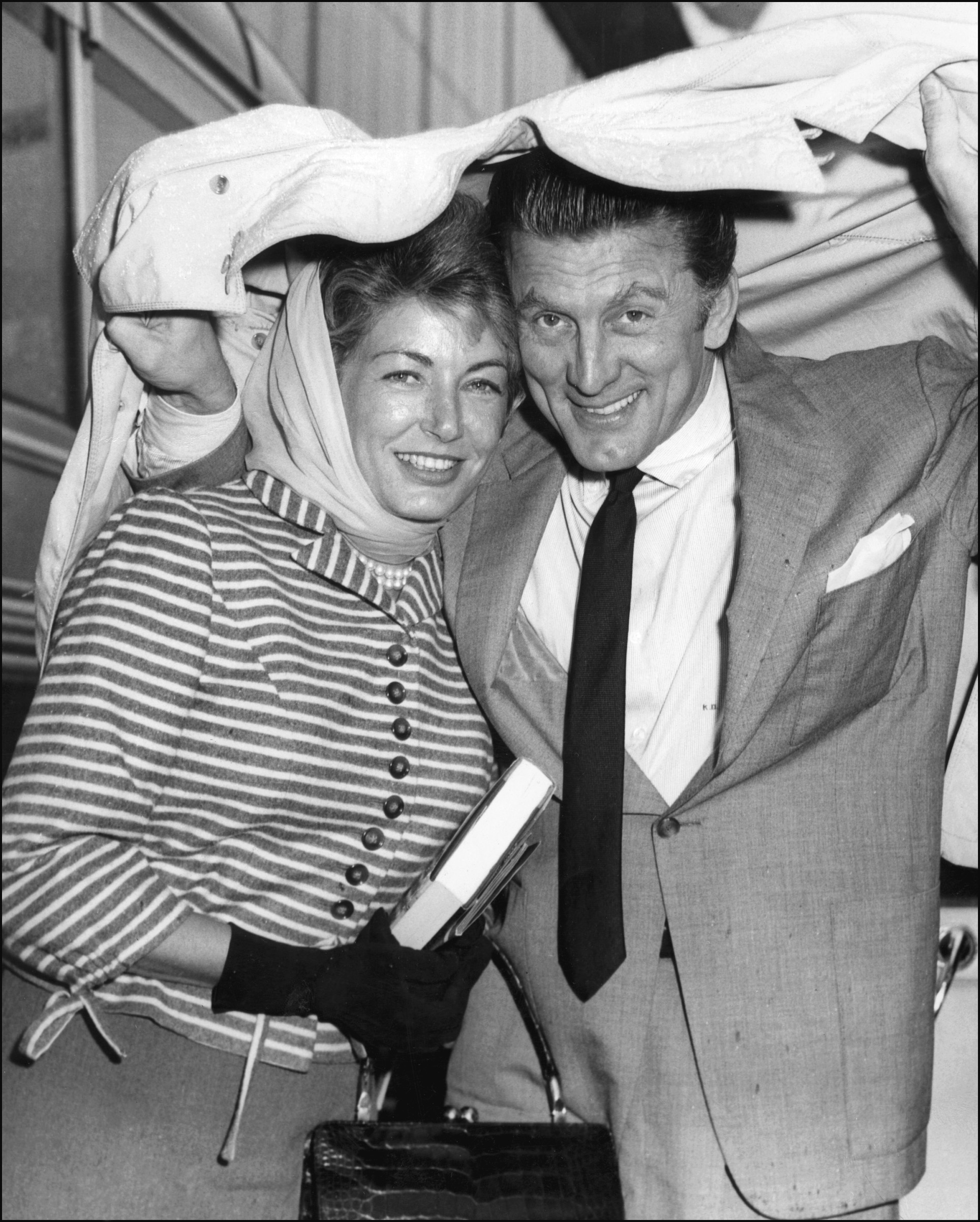 Kirk Douglas Young With Wife Anne