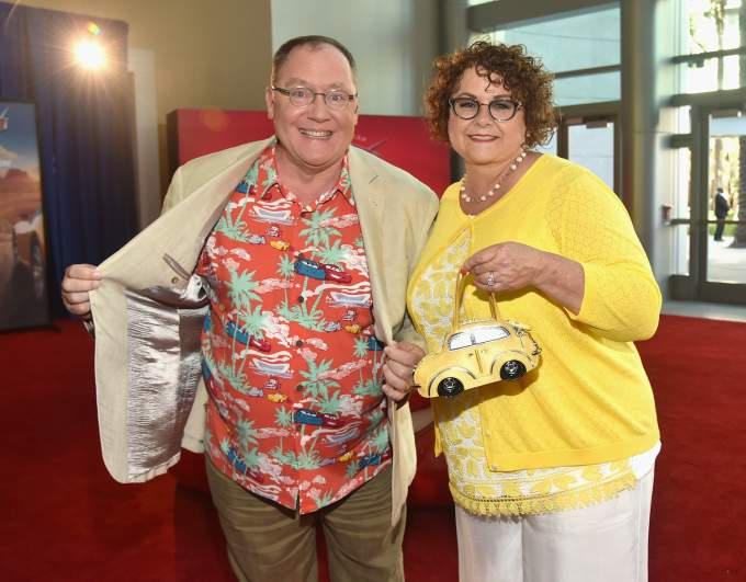 "John and Nancy Lasseter at the Premiere of ""Cars 3"""