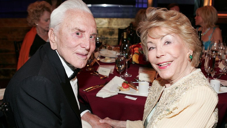 Kirk Douglas and Wife Anne Buydens Photos