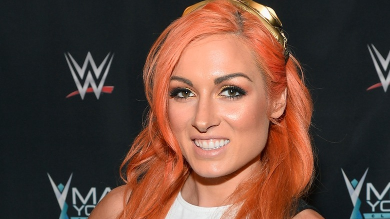 Becky Lynch on the red carpet.