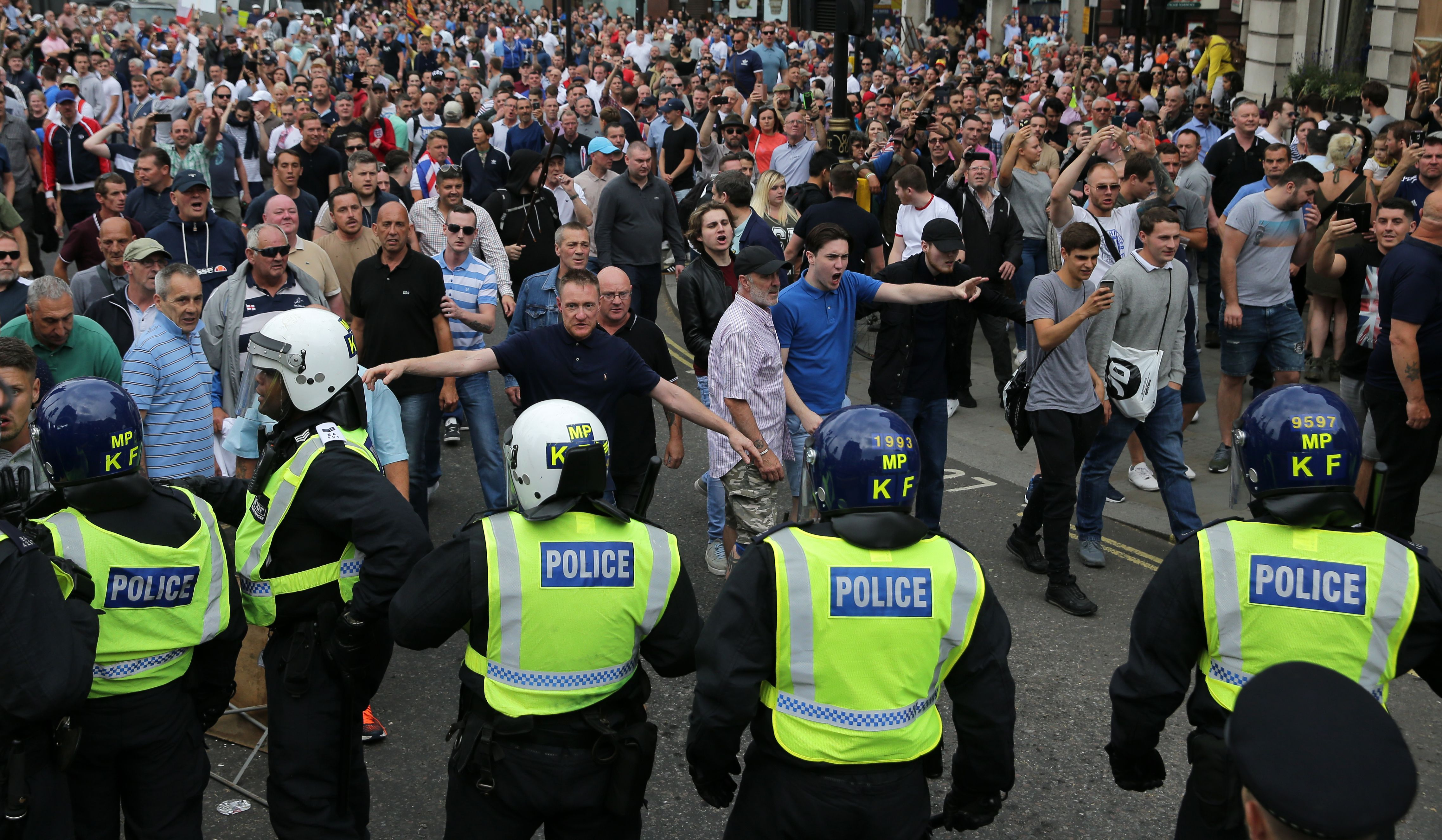 Tommy Robinson march riot