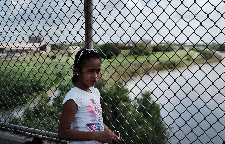Girl at US-Mexico border