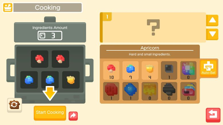 pokemon quest recipes