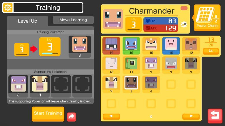 pokemon quest training