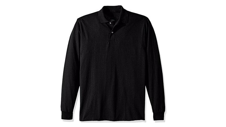jerzees mens spot shield long sleeve polo sport shirt