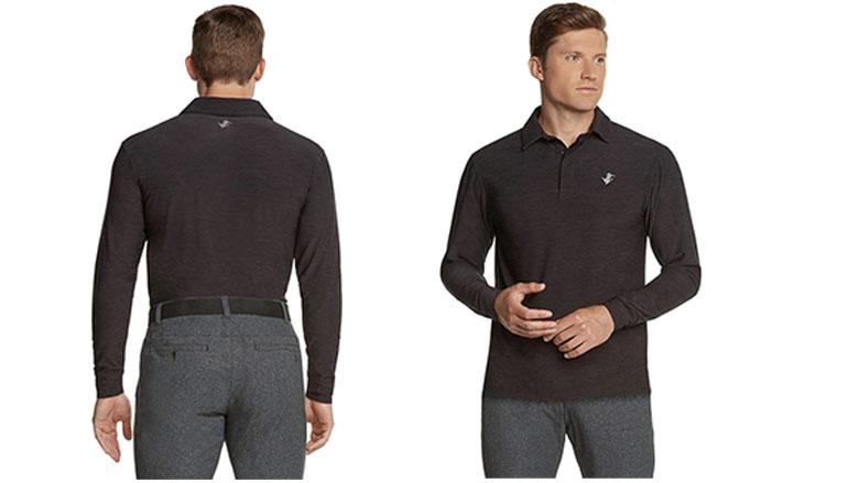 jolt gear mens dry fit long sleeve polo golf shirt