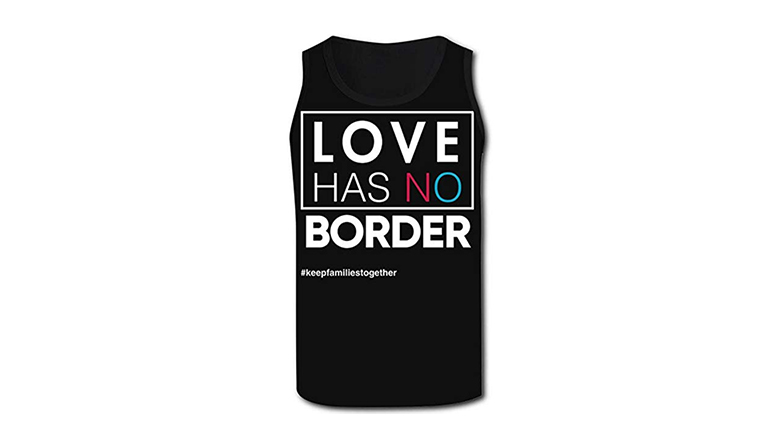 love has no border muscle tank top
