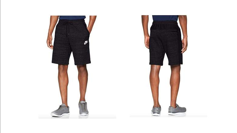 nike sweatpant shorts