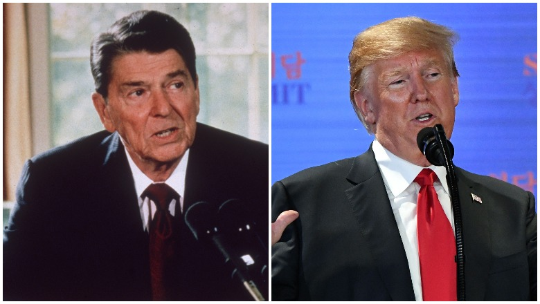 Reagan Star Wars vs Trump Space Force