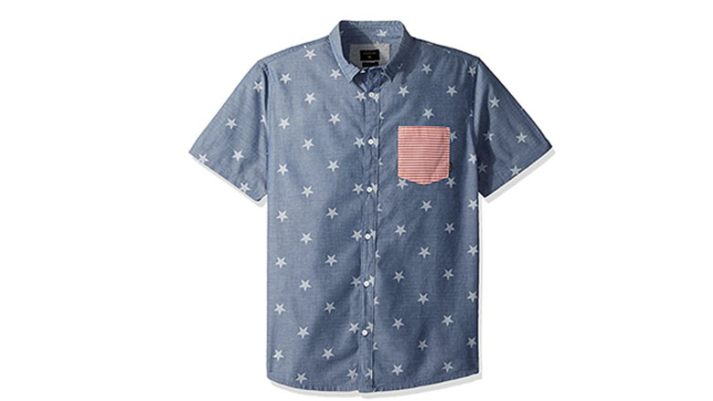 Quiksilver Mens 4th of July Woven Button Down Shirt