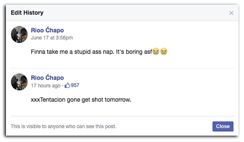 Rioo Chapo Facebook post