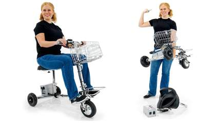 SmartScoot lightweight folding electric mobility scooter