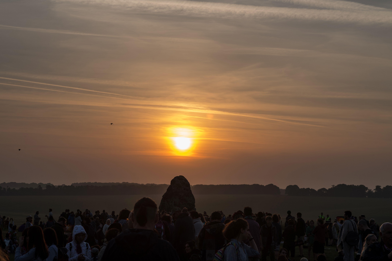 People watching sunrise
