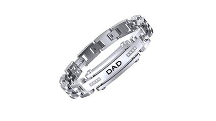 Stainless steel adjustable link dad bracelet