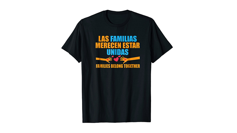 Families Belong together tee shirt in spanish