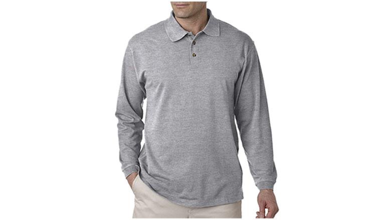 ultraclub mens long sleeve pique polo shirt
