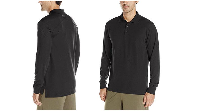 under armour mens tactical performance long sleeve polo shirt