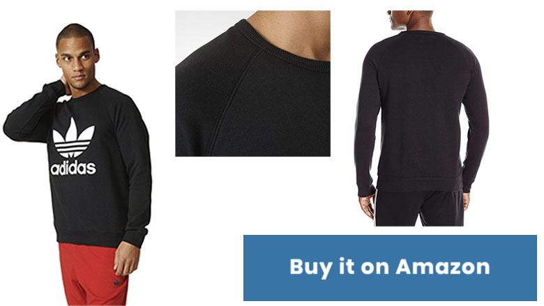 adidas originals mens trefoil crew sweatshirt