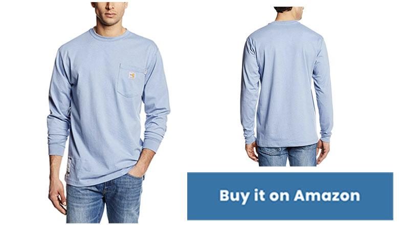 carhartt mens flame resistant cotton long sleeve t shirt