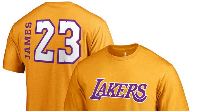 lebron james lakers gear