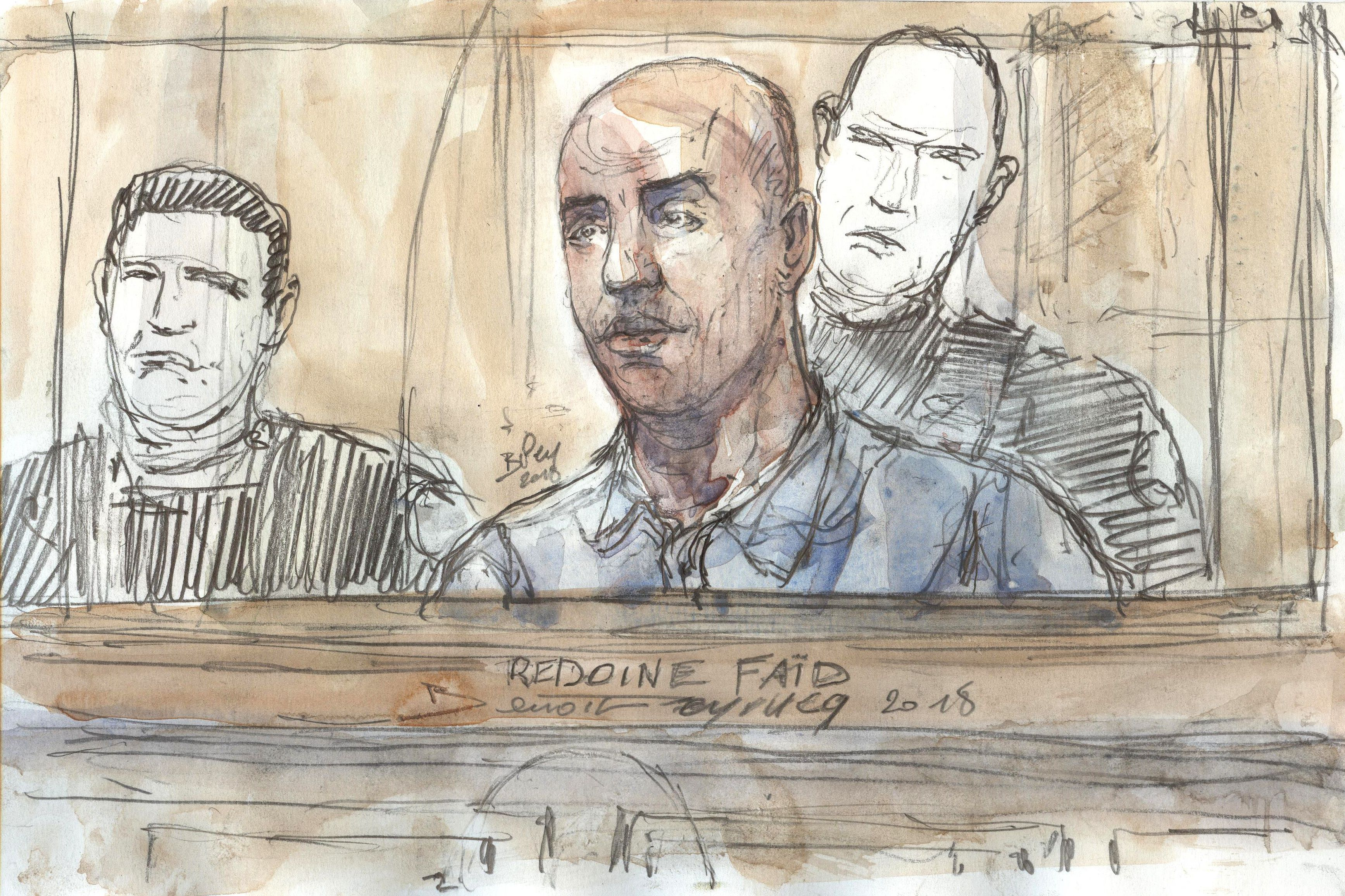 Redoine Faid in court