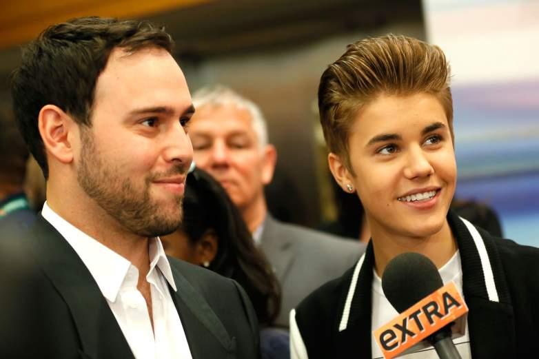 Scooter Braun and Justin Bieber attend the Tribeca Innovation Awards.