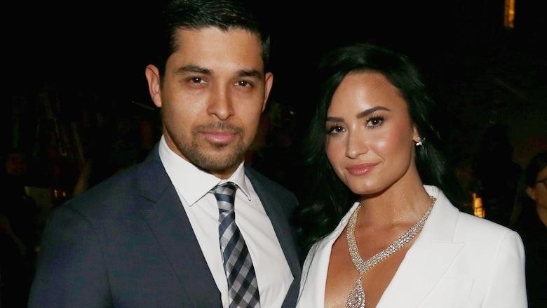 Wilmer Valderrama and Demi Lovato.