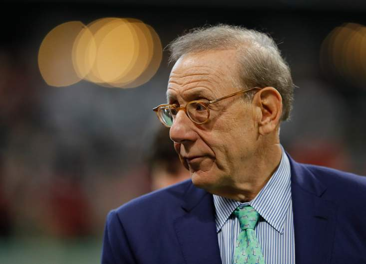 Stephen Ross prior to a game.
