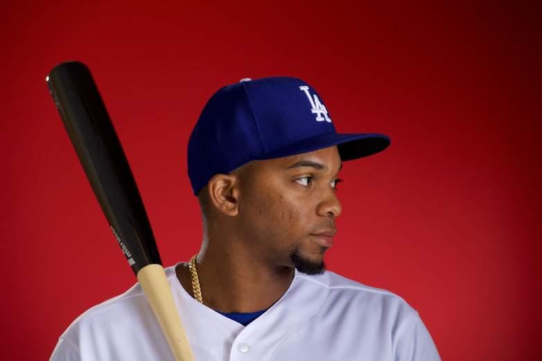 Yusniel Diaz of the Los Angeles Dodgers.