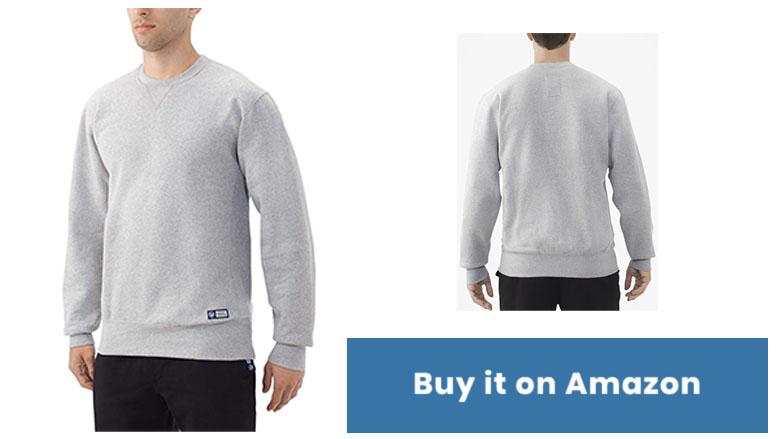 russell athletic mens pro 10 fleece crew sweatshirt