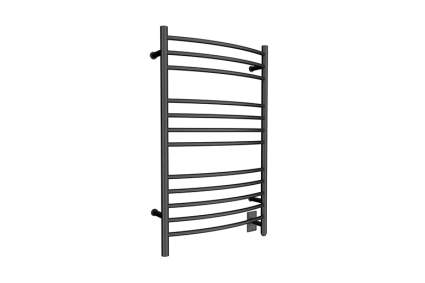 black wall mounted towel warmer