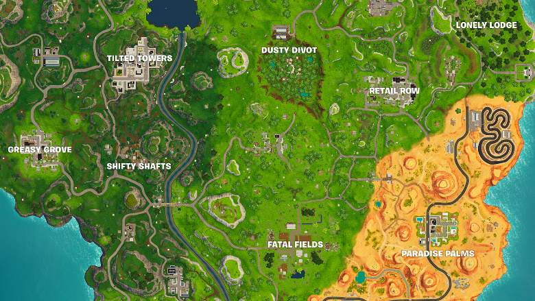 fortnite season 5 all map changes