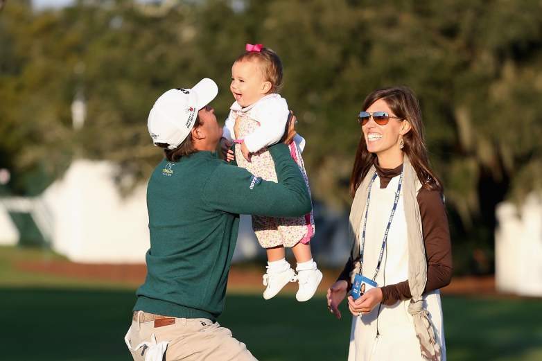 kevin kisner with his wife and daughter