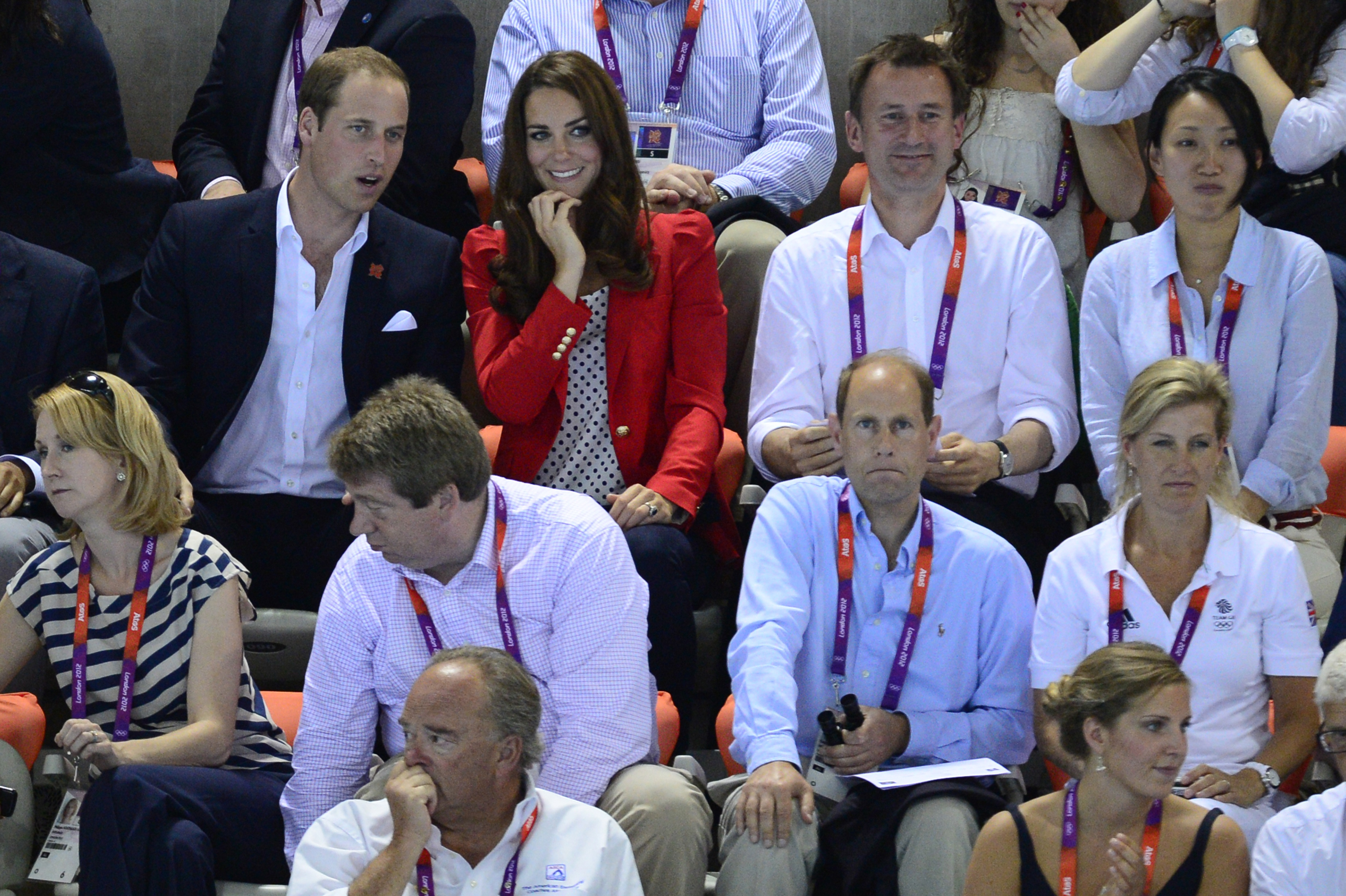 Lucia and Jeremy Hunt Watching the Olympics with Prince WIlliam and Kate Middleton