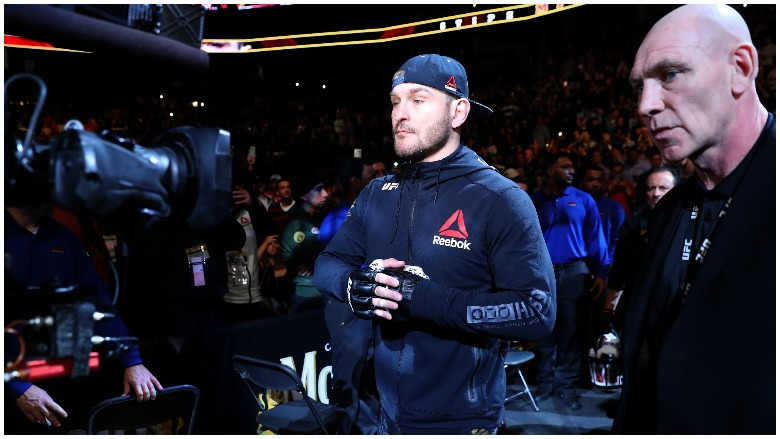 Stipe Miocic comes out at UFC 220 in Boston